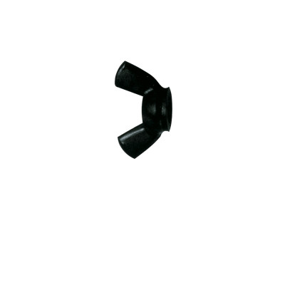 """Black Nylon Wing Nuts 8/32"""" (6mm) 10 pieces"""