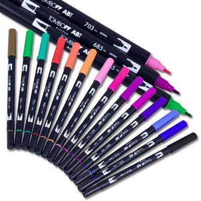 Tombow Kit - 15 Dual Brush Pens