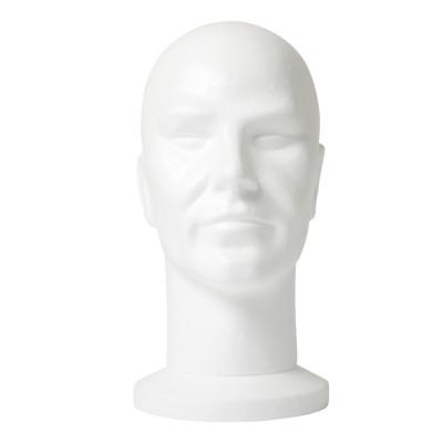 Male Head in Polystyrene