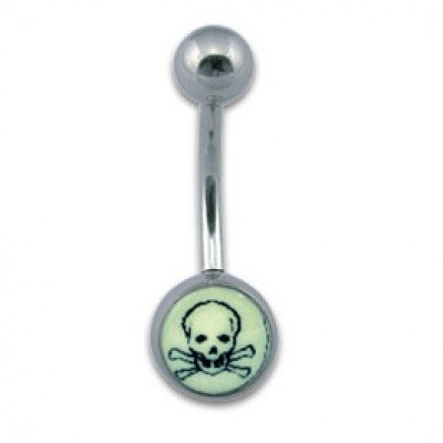 Navel Banana 1.6x10mm Glow Skull