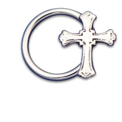 Vertical Charm Ring 1.6x12 Cross