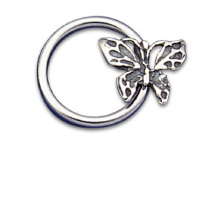 Vertical Charm Ring 1.6x12 Butterfly