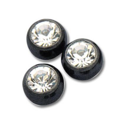 Black Jewelled Balls threaded