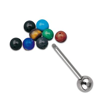 Gemstone 6mm Thread 1.6mm Brown
