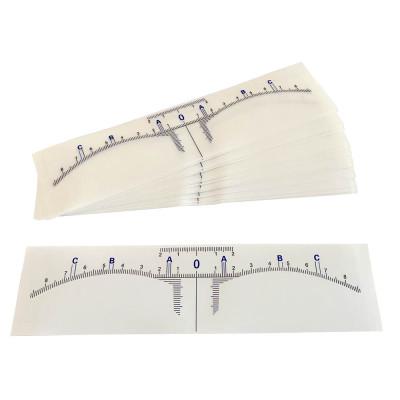 Eyebrow Design Sticky Ruler 50pcs.