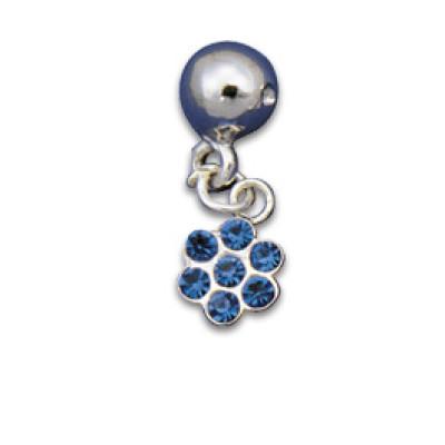 Clip-in Ornament Flower Sapphire Blue