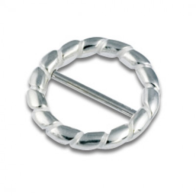 Silver Nipple Ring 2x16mm