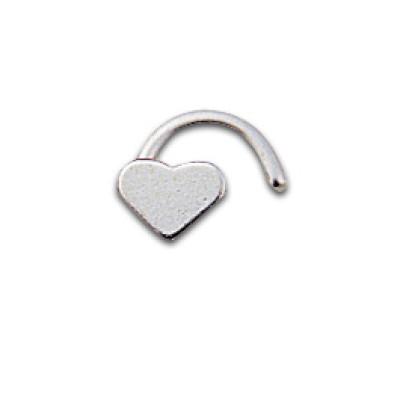 Silver Nostril Heart bent
