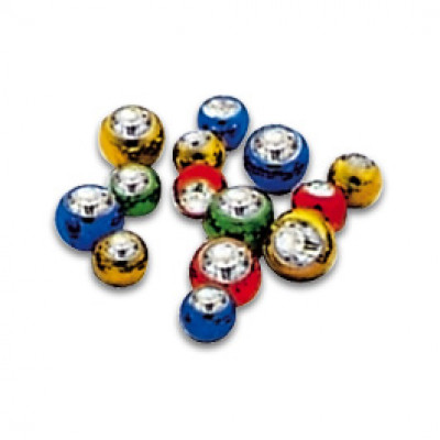 Titanium Threaded Jewelled Balls Anodised