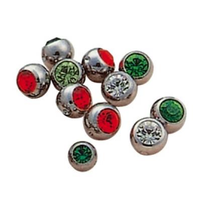 Titanium Jewelled Clip-in Balls