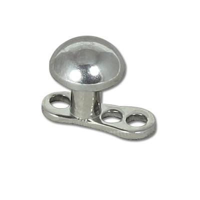 Titanium Dermal Anchor + S/S Half Ball 4mm