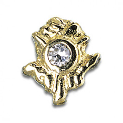 Tooth Jewellery Gold 3-D Diamond Rose
