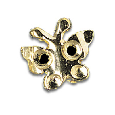 Tooth Jewellery Gold 3-D Butterfly
