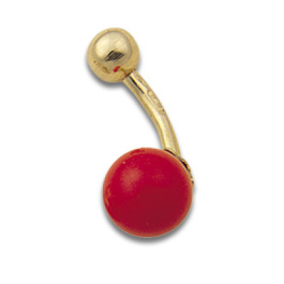 Navel Banana with Coral 1.6x9mm