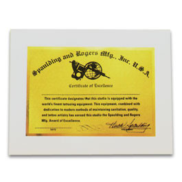 Gold Certificate of Excellence