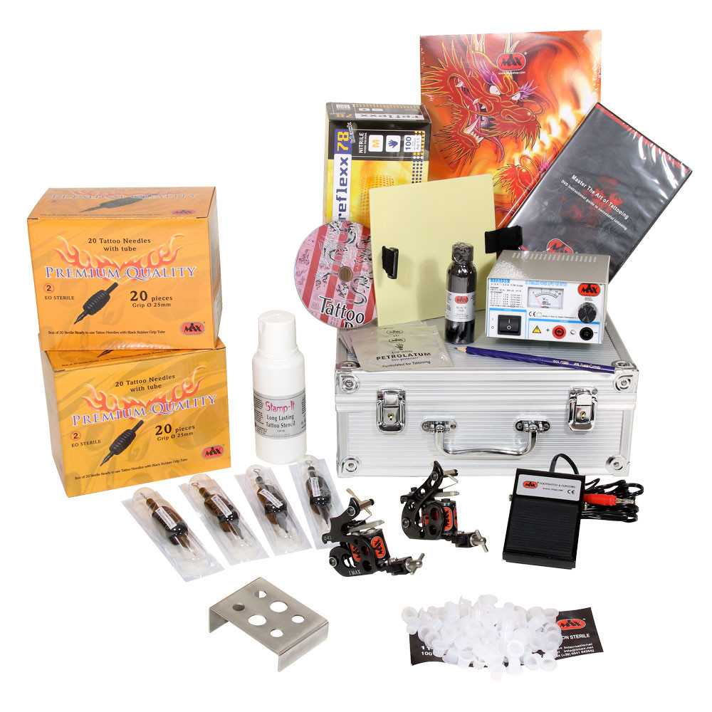 Five Liner and Six Shader Start Up Tattoo Kit