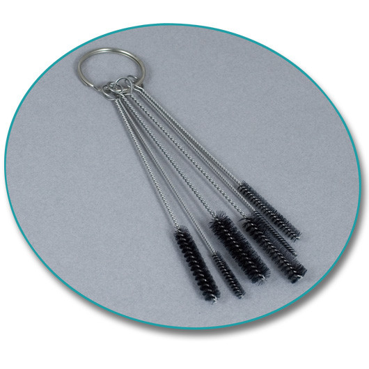 Set of Brushes for Cleaning Tube Tips