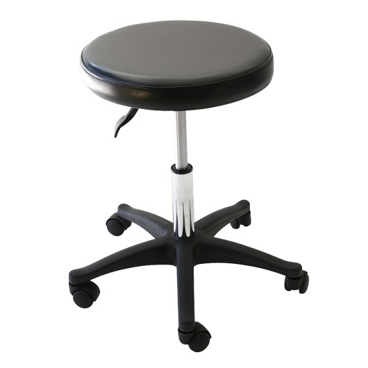 Round Black Tattoo Stool Ø 40cm