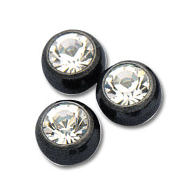 Black Jewelled Balls threaded
