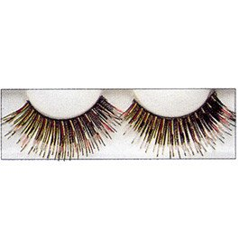 Gold & Blue Strip Lashes