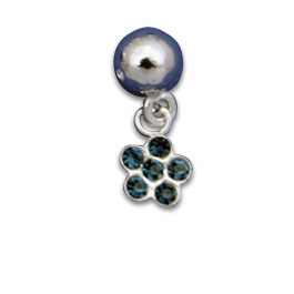 Clip-in Ornament Flower Blue
