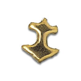 Tooth Jewellery Gold Anchor