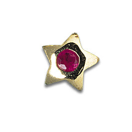 Tooth Jewellery Gold Ruby Star