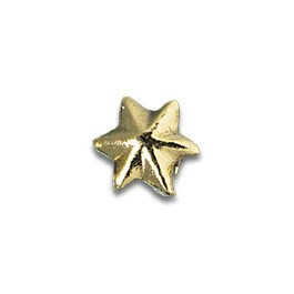 Tooth Jewellery Gold 3-D Small Star