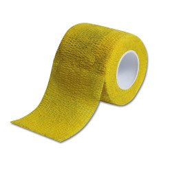 Flexible Tattoo Grip Cover - Cohesive Bandages Yellow Box 12 rolls