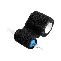 Flexible Tattoo Grip Cover - Cohesive Bandages Black Box 12 rolls