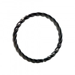 Black Continuous Rope Rings