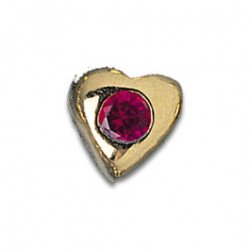 Tooth Jewellery Gold Ruby Heart