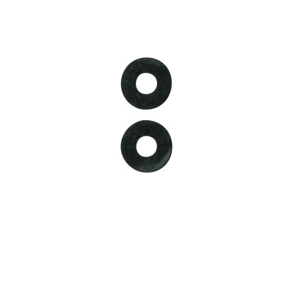 Rondelle nere in nylon 10 pezzi
