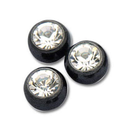 Black Jewelled Balls filettate