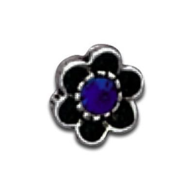 Ornamento Fiore Filetto 1.6mm Capri Blu