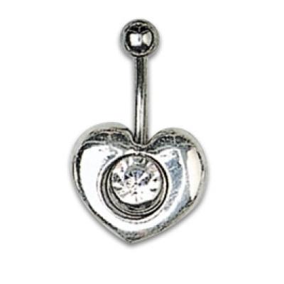 Silver Shield Heart