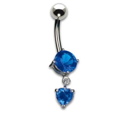 Zircone con pendente blu 1.6x10mm