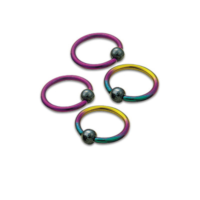 Titanium Anodised Captive Bead Rings