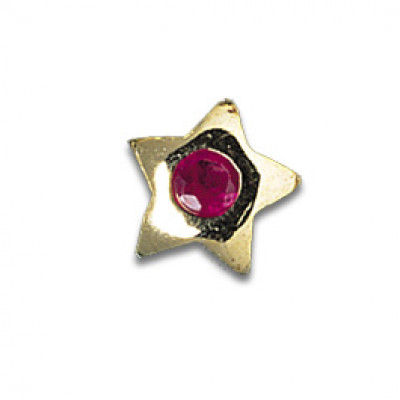 Gioiello per Denti Oro Ruby Star