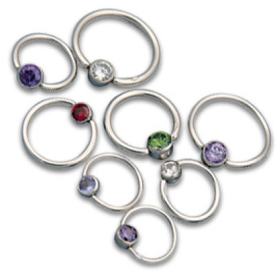Jewelled Captive Bead Rings
