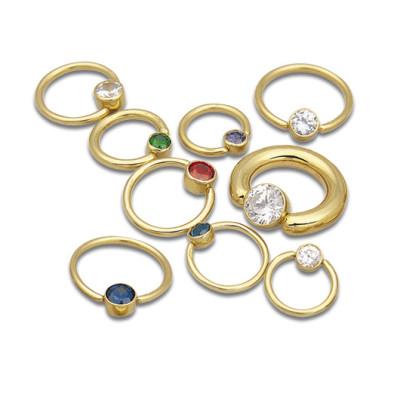 Jewelled Captive Bead Rings