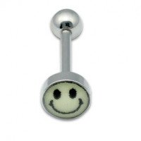 Tongue Studs 1.6x16mm Glow Smiley