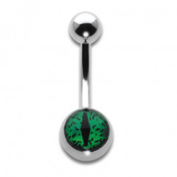 Navel Banana 1.6x10mm Green Eye