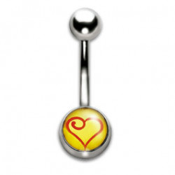 Navel Banana 1.6x10mm Heart