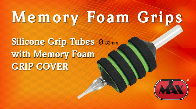 Silicon Grip Tubes with cover in Memory Foam