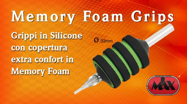 Tubi per Tatuaggio con Grip in Silicone e copertura in Memory Foam